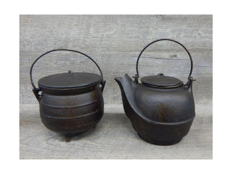 Cast Iron Kettle and Cauldron