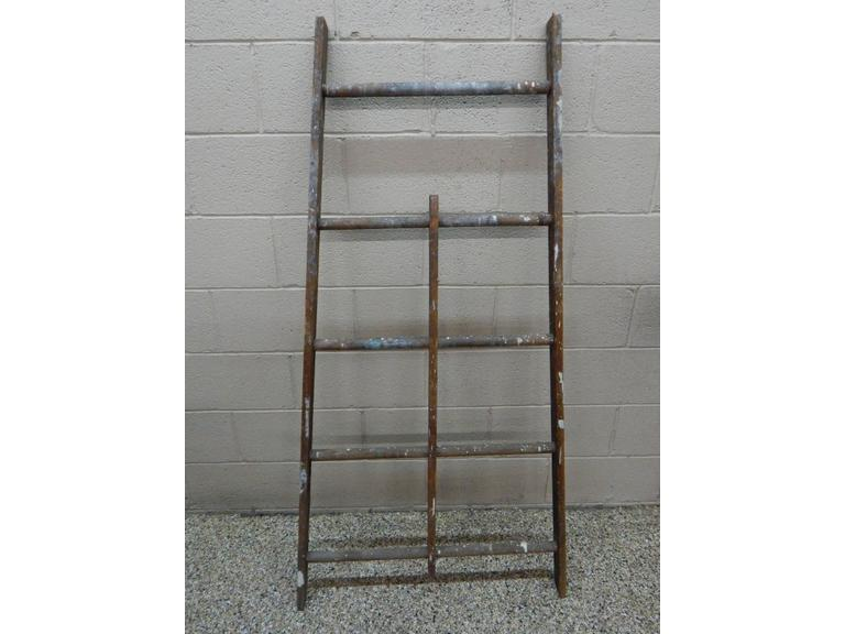 Old Wide Wooden Ladder Section