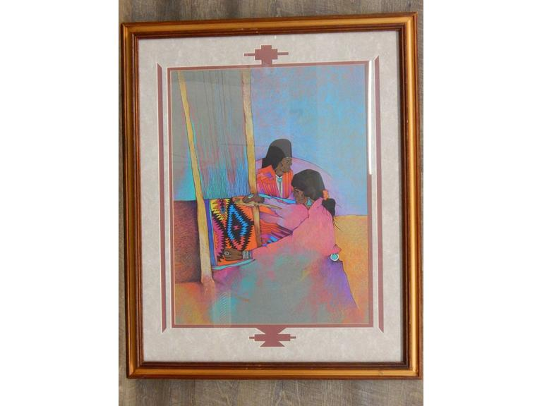 Large Western Framed Print