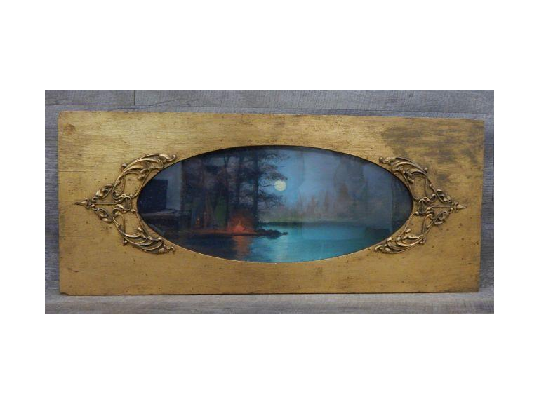 Antique Wood Framed Print