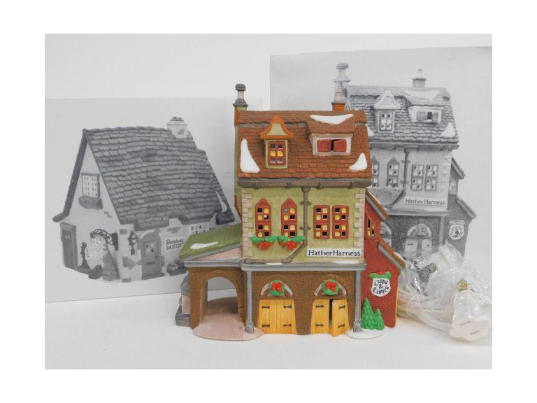 Dept. 56 Dickens' Village Hather Harness and Wrenbury Baker
