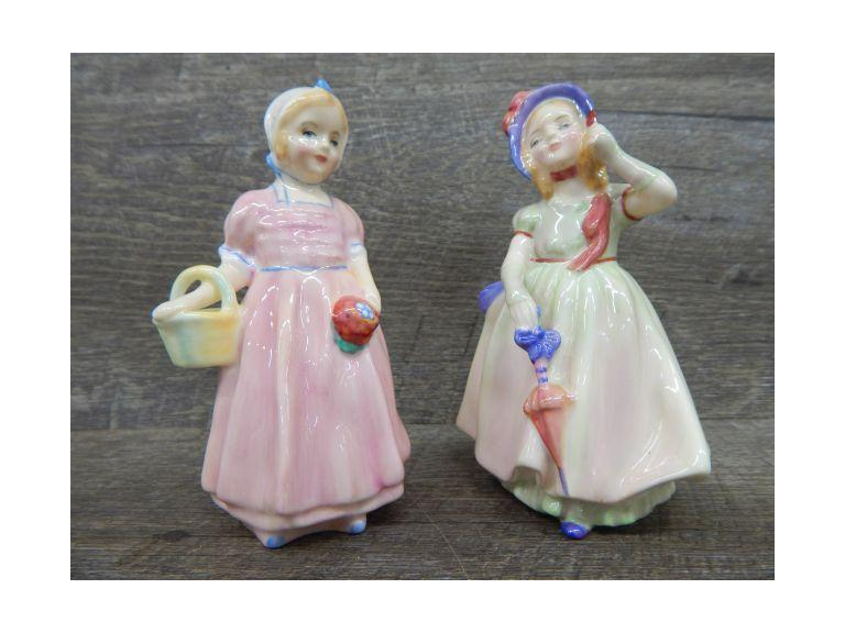 Royal Doulton Tinkerbell and Babie Figurines
