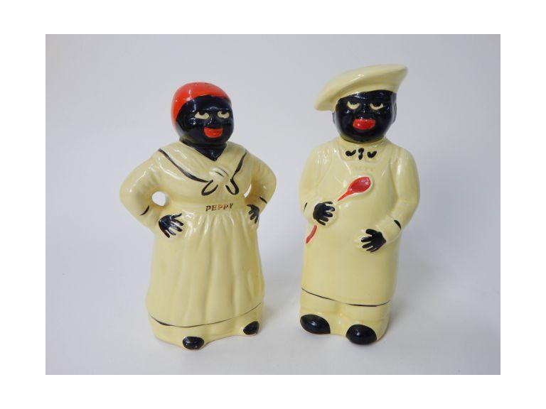 Black Americana Salt & Pepper Set