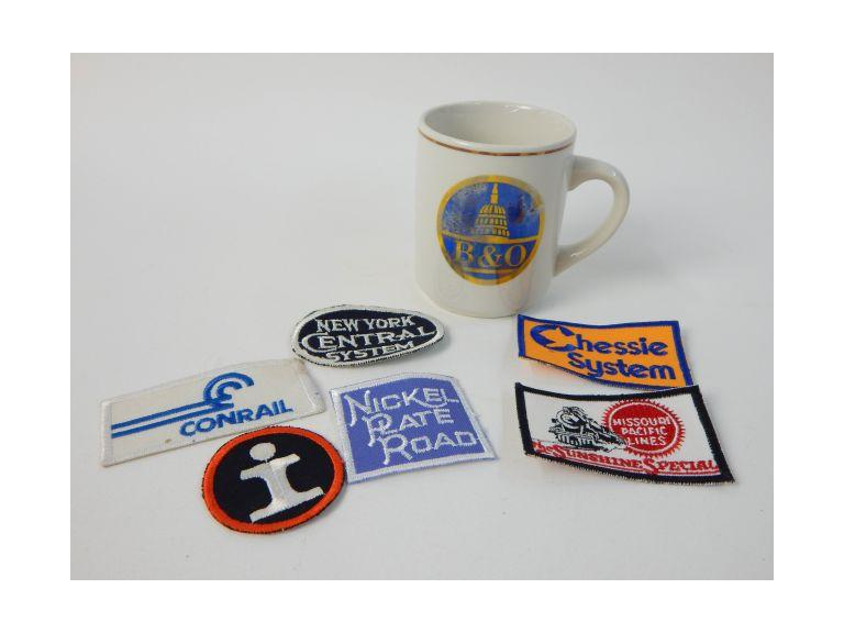 Railroad Collectible Patches & Cup