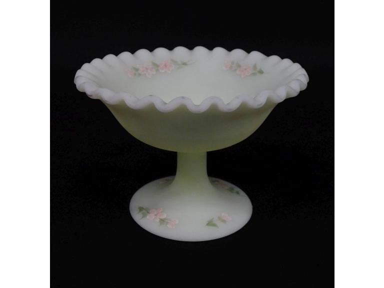 Petite Hand Painted Fenton Compote