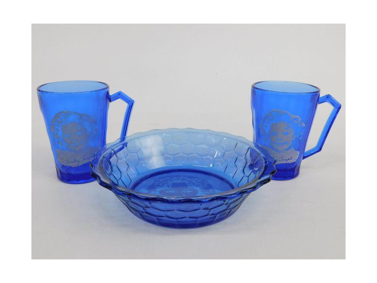Shirley Temple Blue Glass Lot