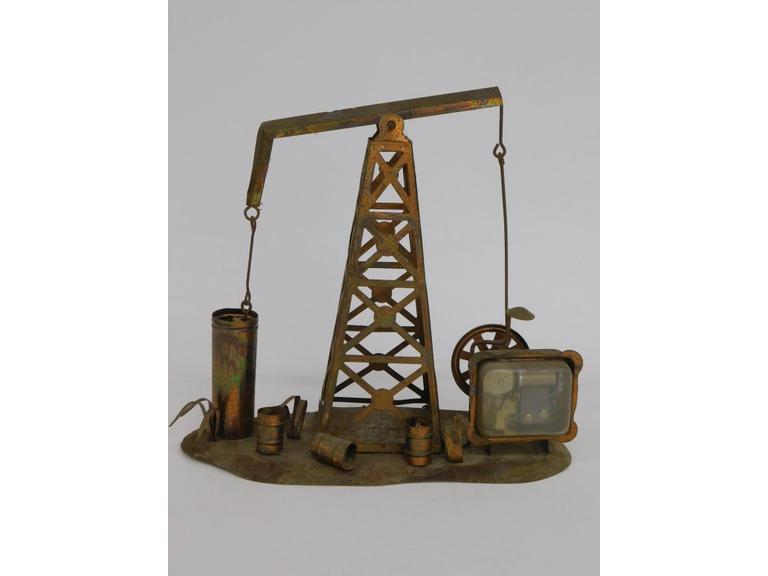 Wind Up Copper Tin Oil Rig