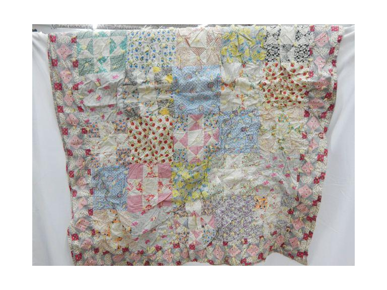 Tufted Patchwork  Hand Crafted Quilt