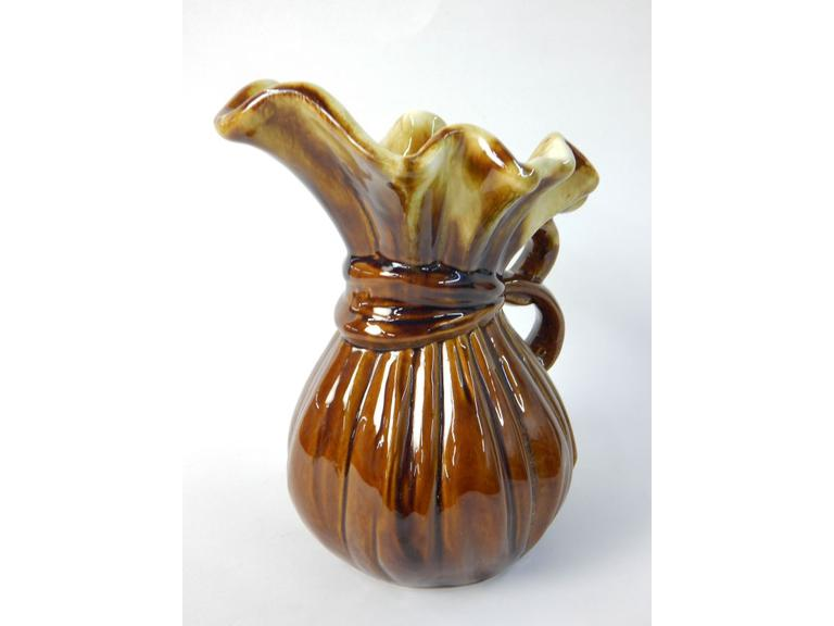McCoy Pottery Gathered Cloth Pitcher