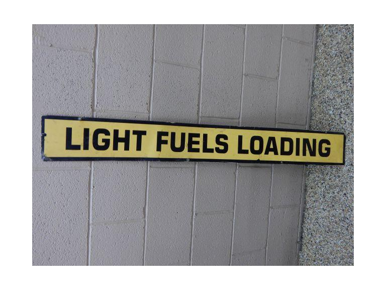 Long Metal Industrial Fuel Sign