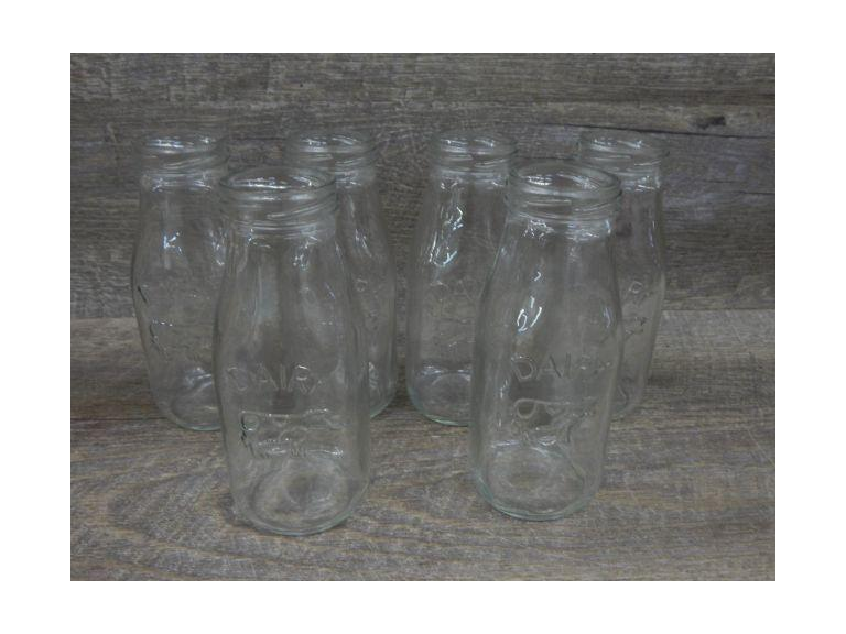 Collection of Pint Size Milk Bottles