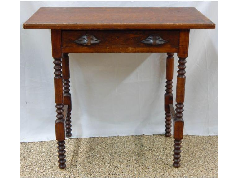 Antique Single Drawer Hand Crafted Side Table