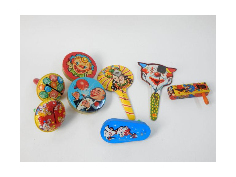 Collection of Tin Metal Noise Makers