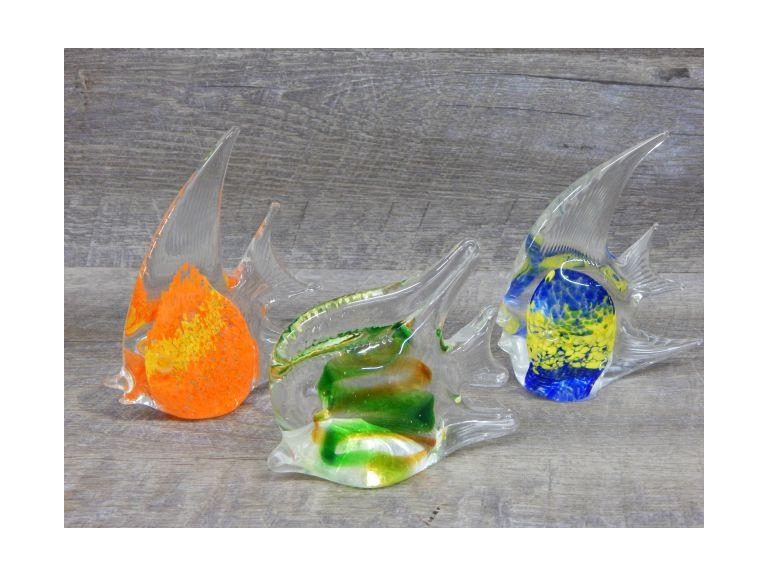 Art Glass Fish Paperweights