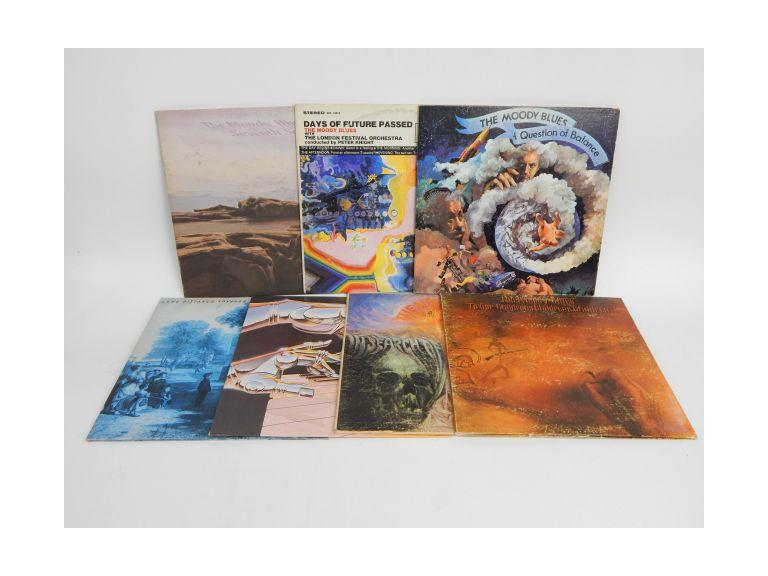 Collection of Moody Blues Vinyl Albums
