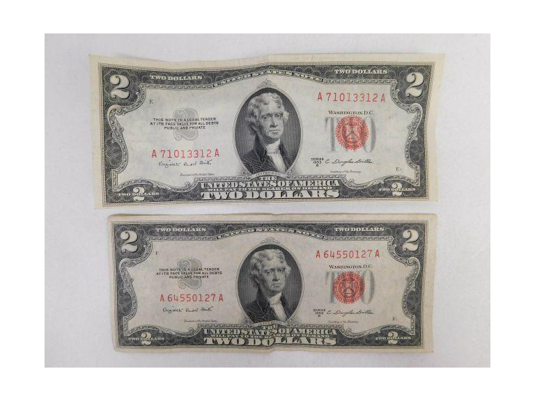 1952 $2 Silver Certificates