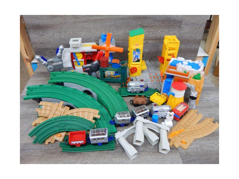 Large Fisher Price Train Set Collection