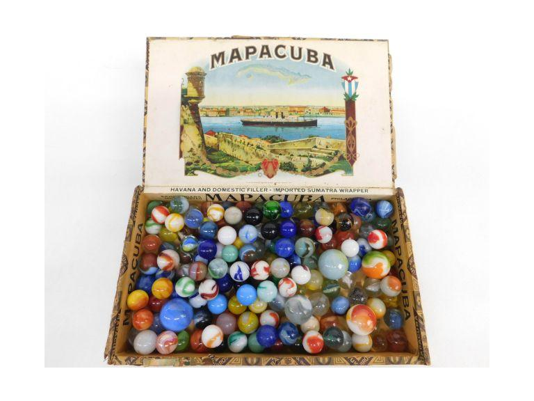 Cigar Box Filled With Marbles