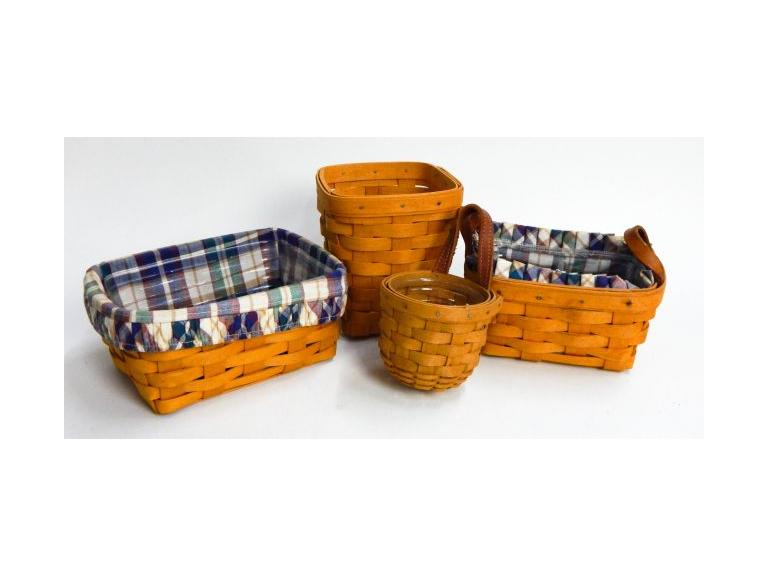 Collection of small Longaberger Baskets