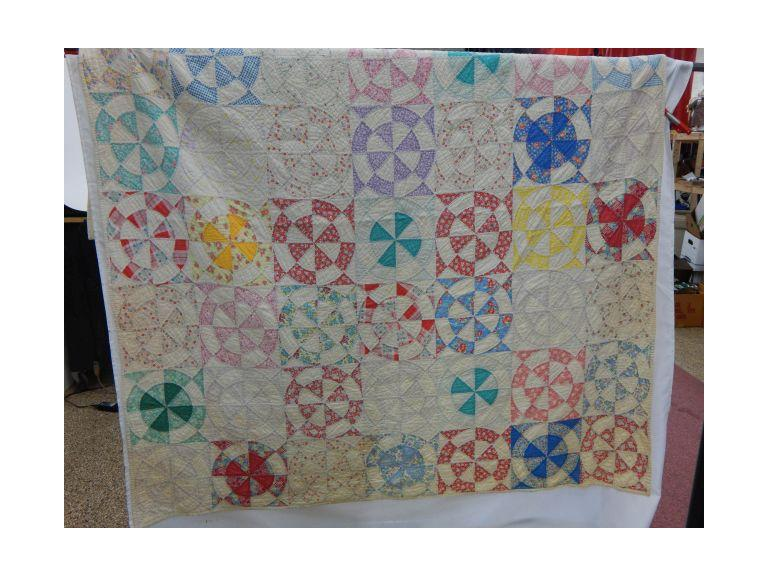 Hand Stitched Colorful Pattern Quilt