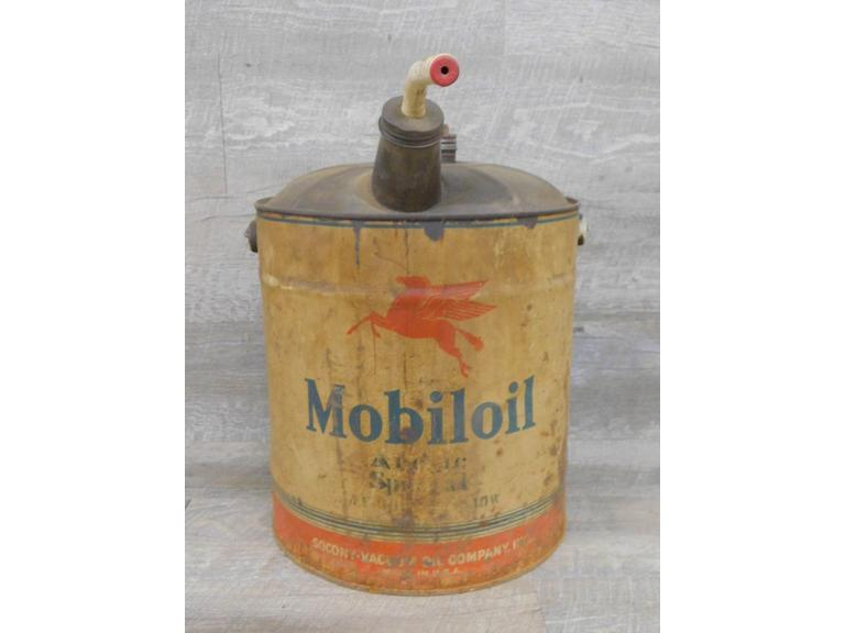 5 Gallon Mobiloil Can