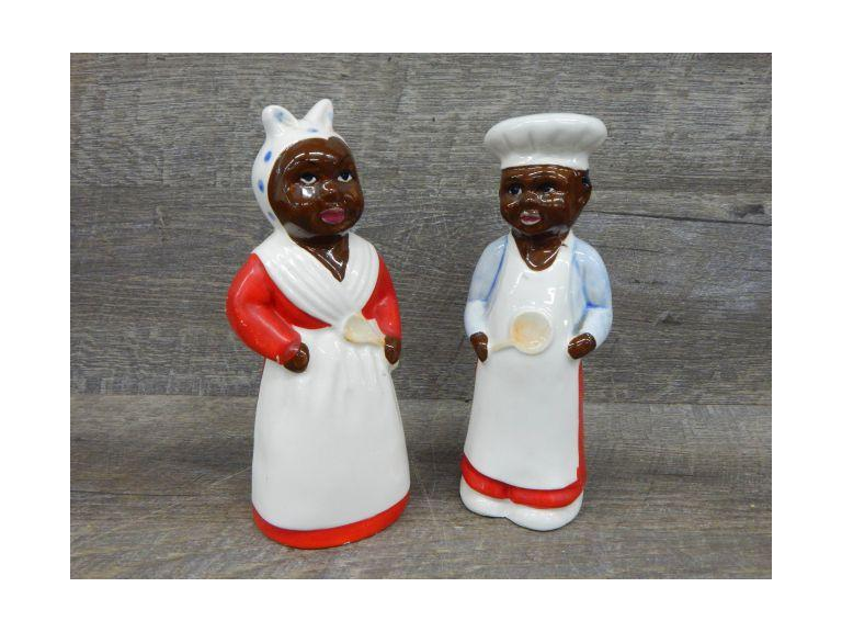 Chase Hand Painted Black Americana S&P Shakers
