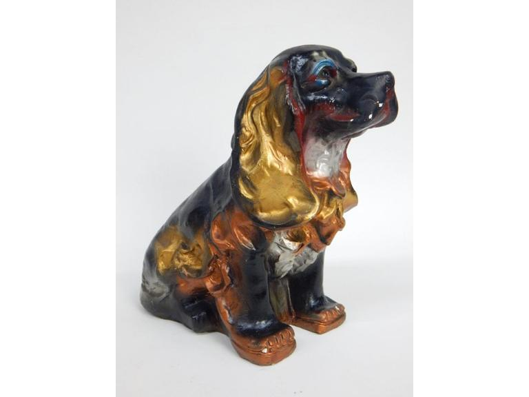 Vintage Chalkware Dog Coin Bank