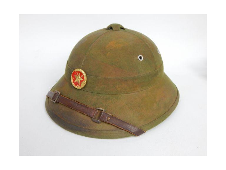 North Vietnamese Pitch Helmet