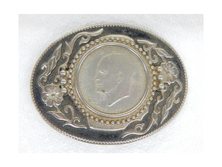 Eisenhower Dollar Belt Buckle