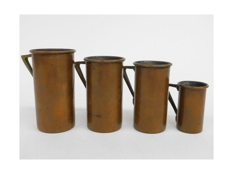 Antique Copper Measuring Cups