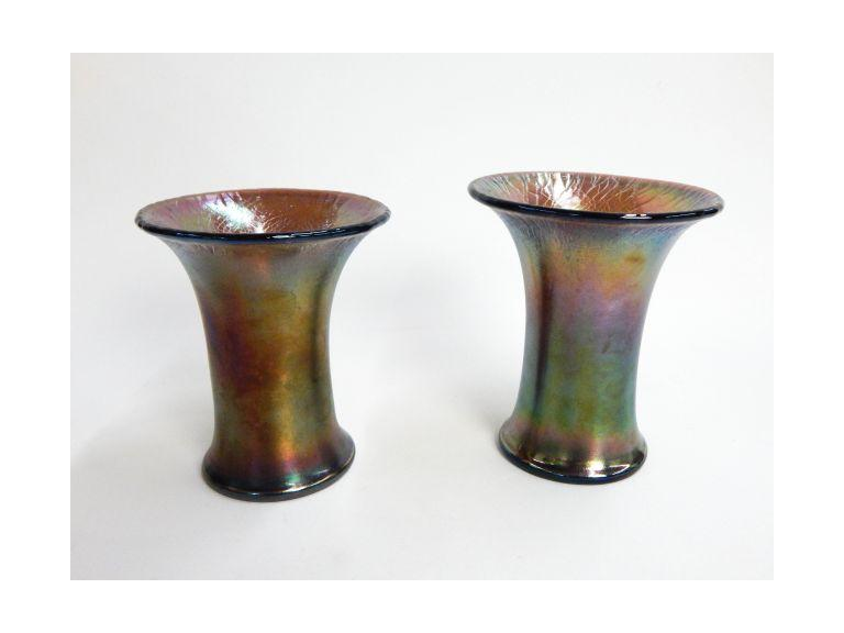 Imperial Carnival Glass Vases