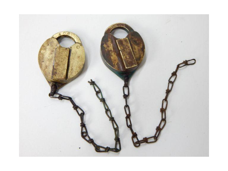 Antique Brass Padlocks
