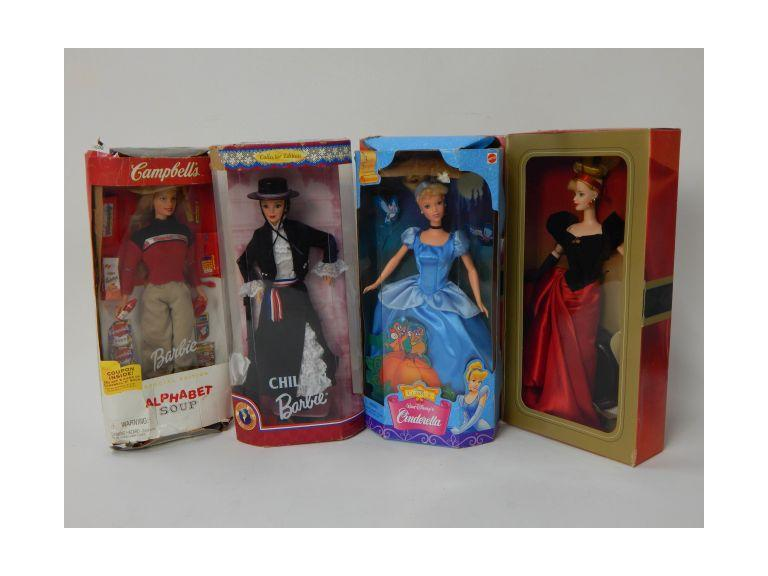 Collection of Barbie and Disney Dolls
