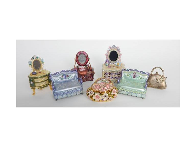 Collection of Decorative Trinket Boxes