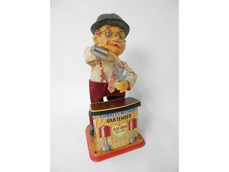 Charlie Weaver Tin Metal Motion Toy