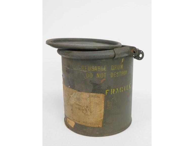 Military Shipping Drum