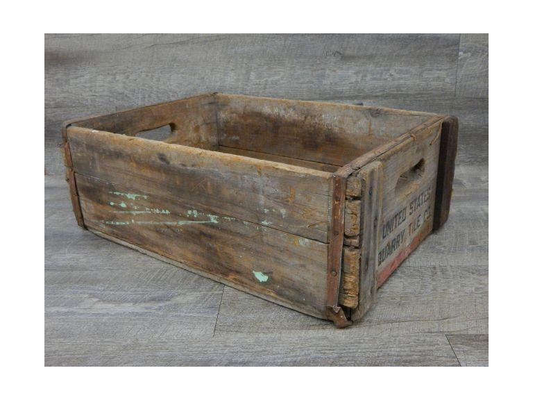 US Quarry Tile Co. Wooden Crate