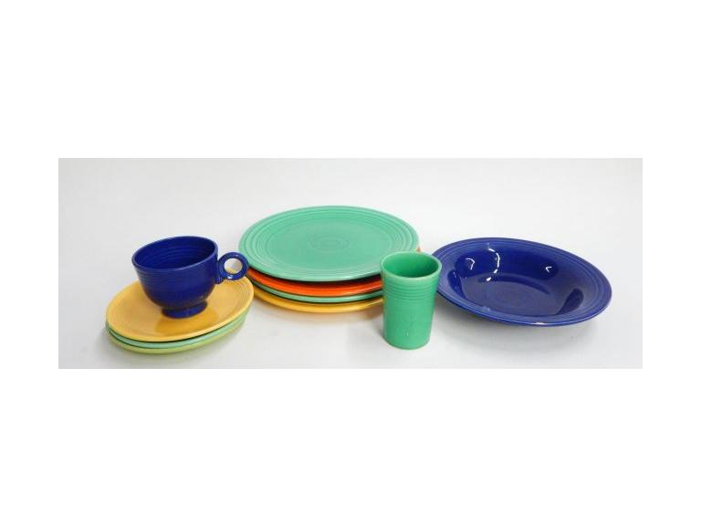 Collection of Fiesta Ware Dishes