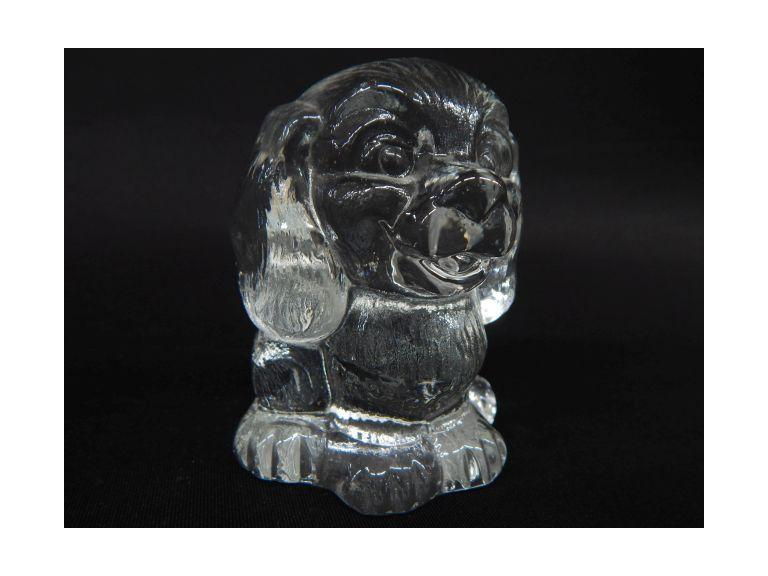 Adorable Glass Puppy Paperweight