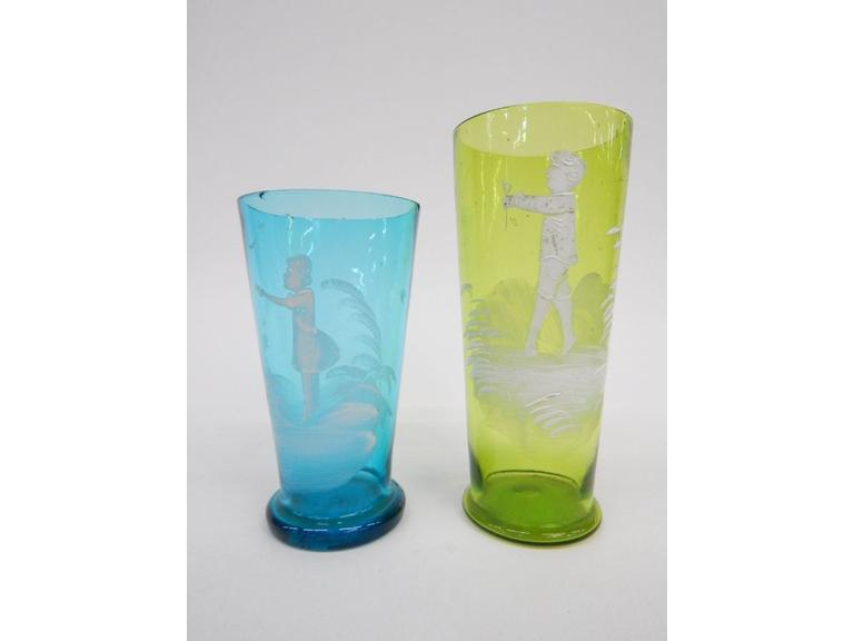 Mary Gregory Tumblers