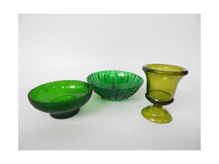 Glass Bowls & Vase