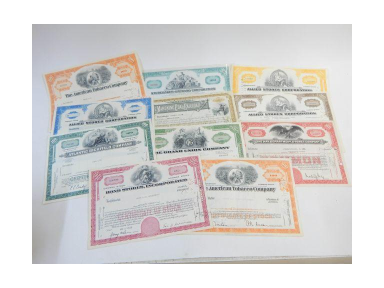 Vintage Stock Certificates