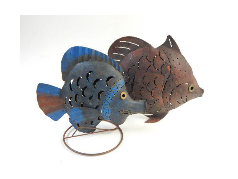 Metal Art Fish Figures