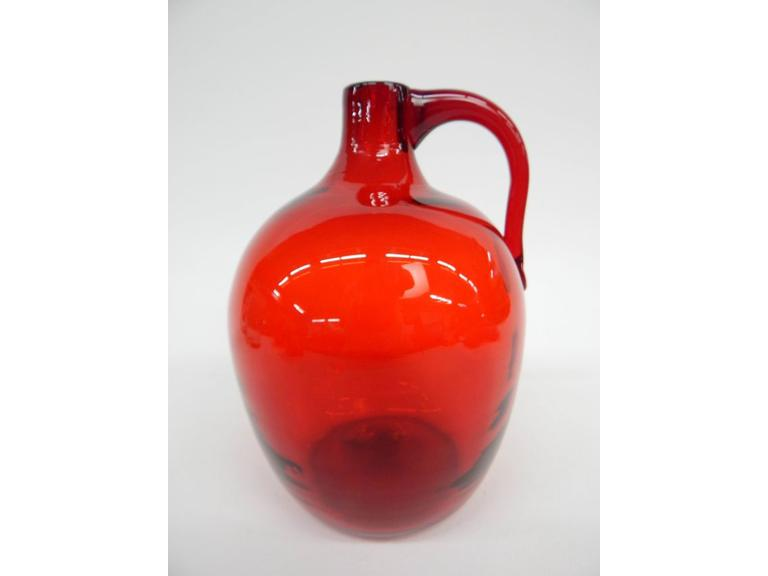 Blenko Red Glass Jug