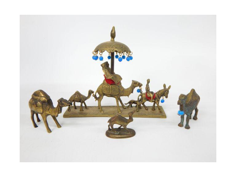Brass Camel Figurines