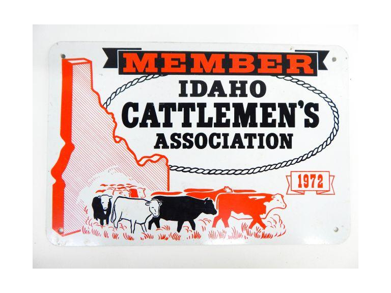 Cattleman's Tin Sign