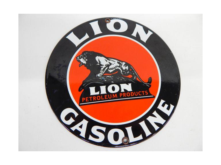 Enamel Gasoline Sign