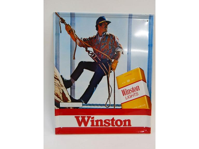 Winston Tin Metal Sign
