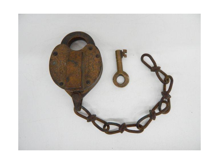 Antique Brass Padlock