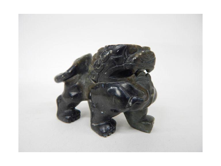 Jade Stone Lion Figure